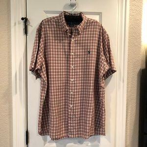 Ralph Lauren Button Down Classic Fit Plaid Shirt
